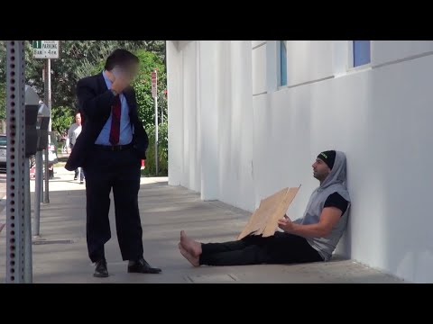 Video: What Happens When The Homeless GIVE Money?