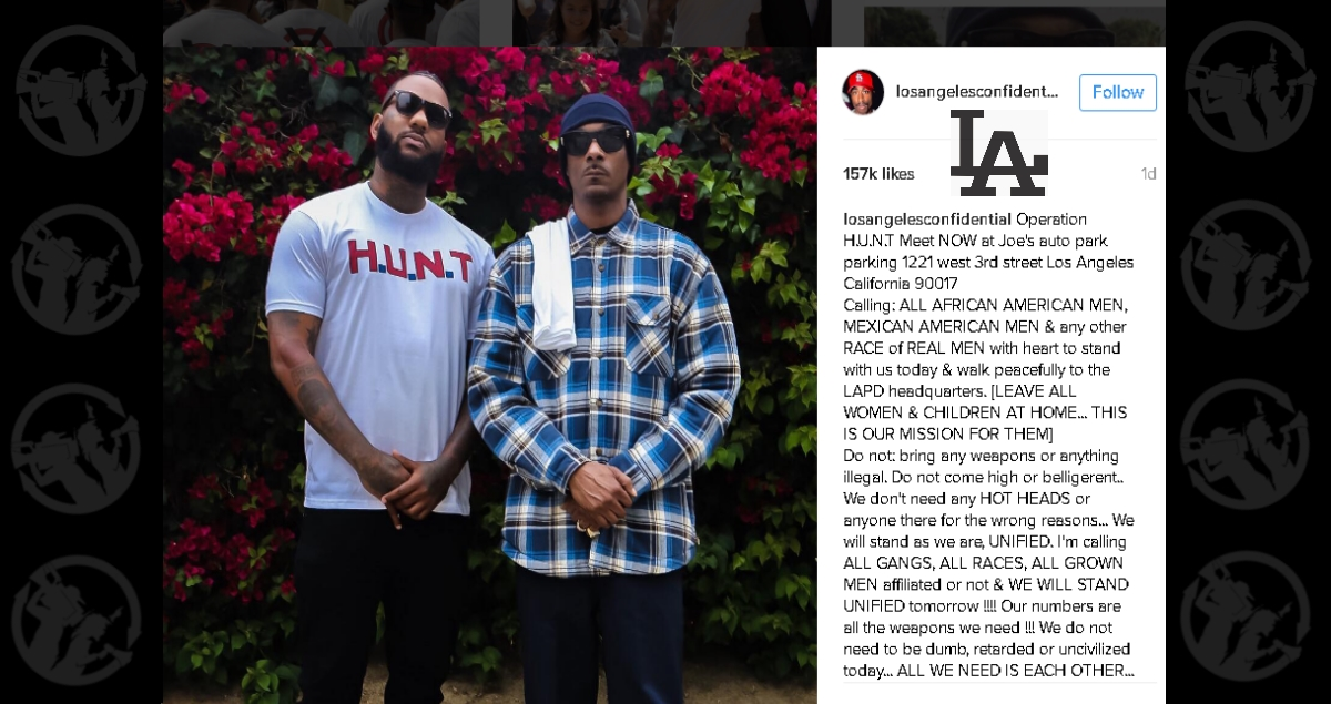 'Respect is key': The Game & Snoop Dogg lead march in LA