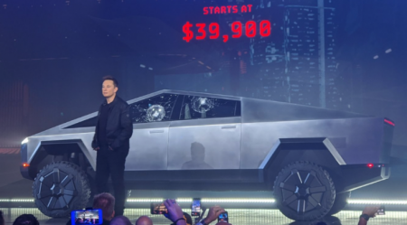 """Oh My F**king God"": Elon Musk's Bizarre Cybertruck Unveiling Goes Horribly Wrong"