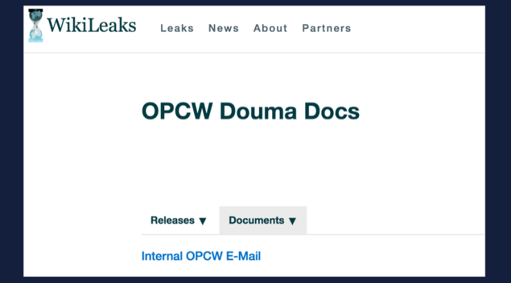 New OPCW Leak Shatters Establishment Syria Narrative Once and for All