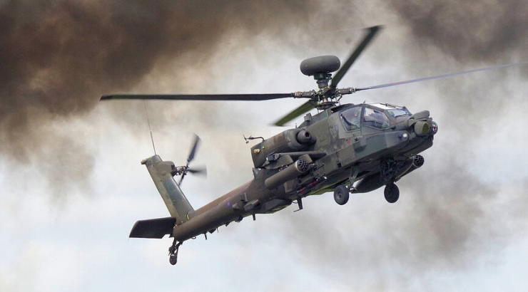 Apache Gunships Try to Disperse Mob as Kataib Hezbollah Flags Erected Over Embassy