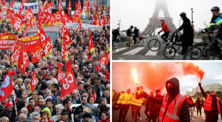 France Paralyzed by Largest General Strike in Decades
