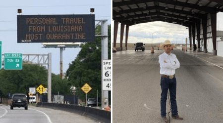Texas Governor Orders State Troopers to Enforce Quarantine at Louisiana Border