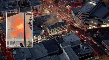 Massive Explosion in Downtown LA Leaves 10 Buildings on Fire, Multiple Firefighters Down