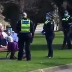 Police Surround and Arrest Two Elderly Women Resting on Park Bench for 'COVID Violation'
