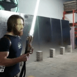Engineer Creates Fully Functional 'Star Wars' Lightsaber That Cuts Through Steel and is Likely Very Deadly